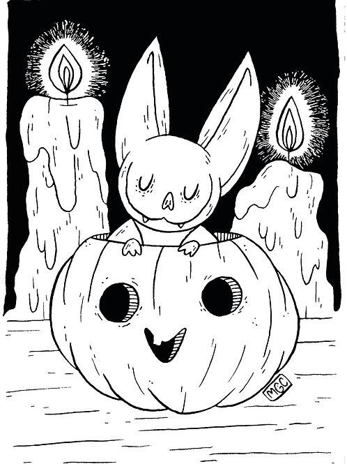 Pumpkin Bat • Print
