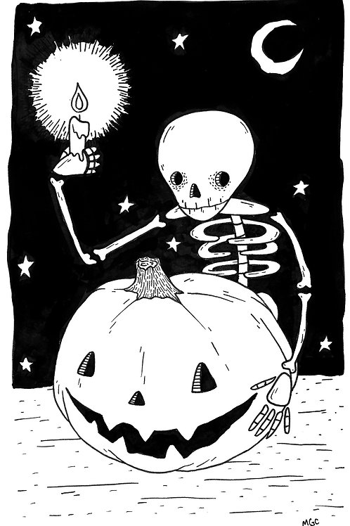 Skelly Pumpkin • Print