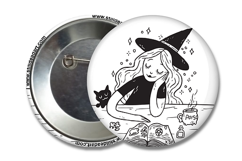 Day Dreaming Witch • Matte Button