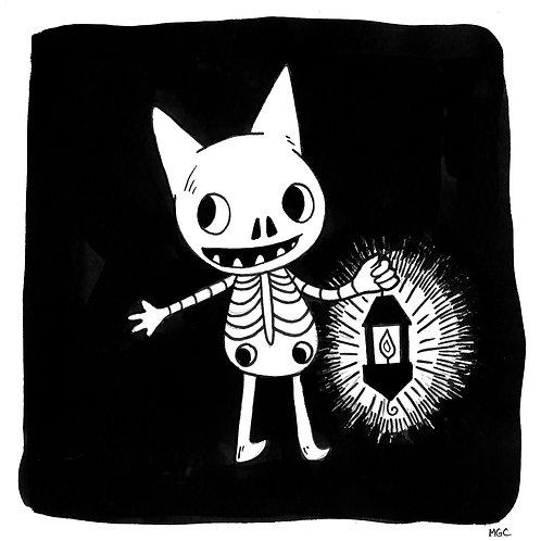 Lantern Cat • Print