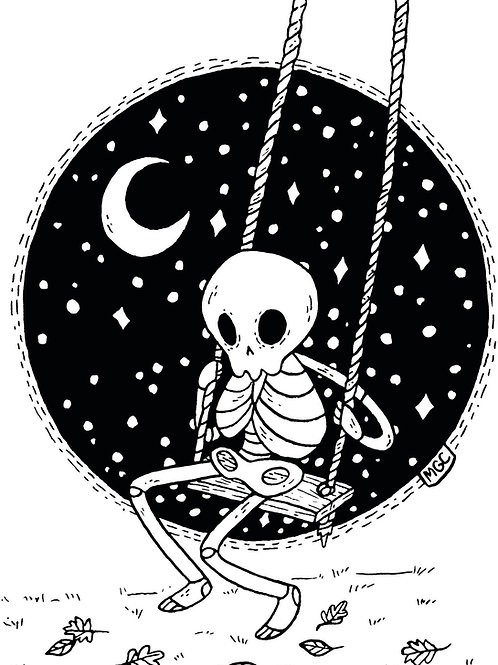 Swinging Skelly • Print