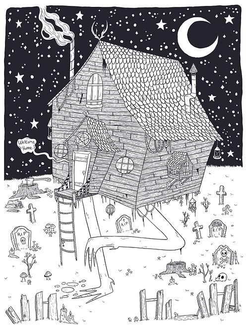 The Hut • Print