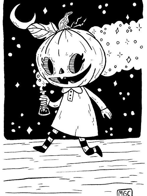 Pumpkin Girl • Print