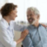 Läkarmottagning patienten i centrum