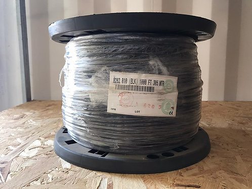 8262 - Mil-Spec Coax, 50 Ohm, RG-58, 20 AWG Str TC, 95% TC Braid, PVC Jkt, Comme