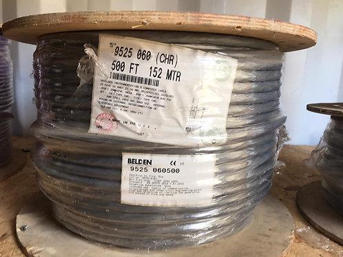 9525 - RS232, #24-25pr, SR-PVC, O/A Foil, PVC Jkt, CMG, 75Ω
