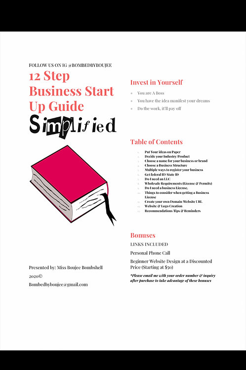 12 Step Business Start Up Guide Simplified