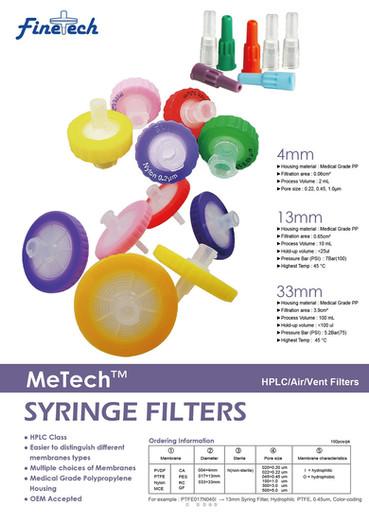 MeTech Syringe Filters