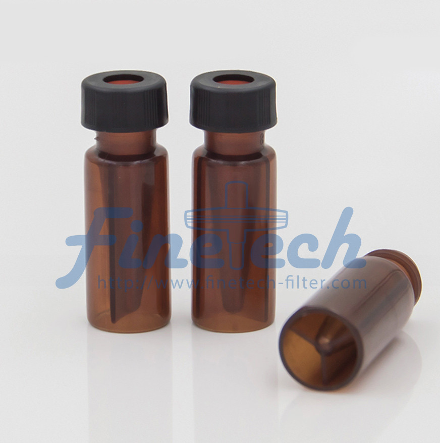 PP vial with micro-insert (amber)