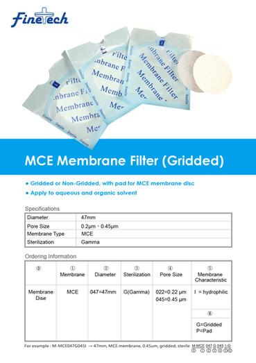 MCE Membrane Filter (Gridded)