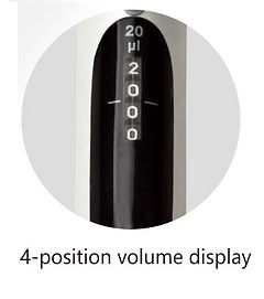 S Series Micropipette Volume Display