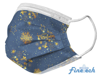Finetech Blue Christmas Face Mask