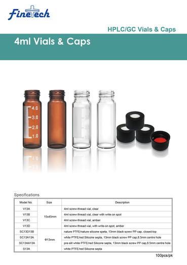 4ml Vials & Caps