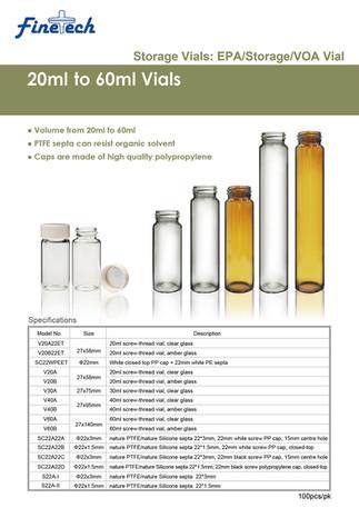 20-60ml Vials & Caps