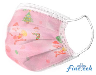 Finetech Pink Christmas Face Mask