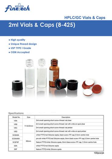2mL Vials & Caps (8-425)