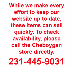 Bernard Building Center Clearance - Cheboygan Store