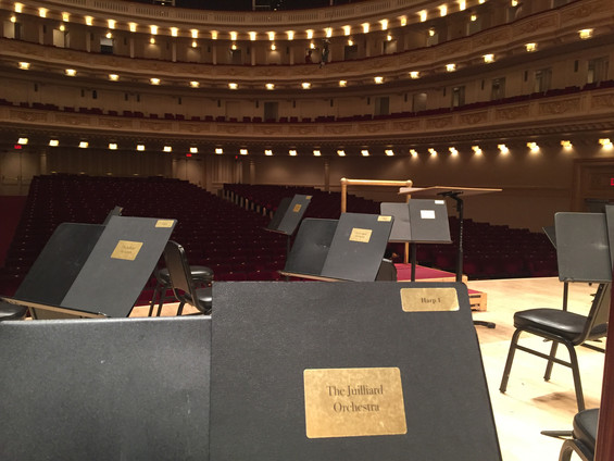 Performance at Carnegie Hall with the Juilliard Orchestra