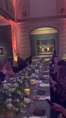 Performing at a private event at the Rijksmuseum Amsterdam
