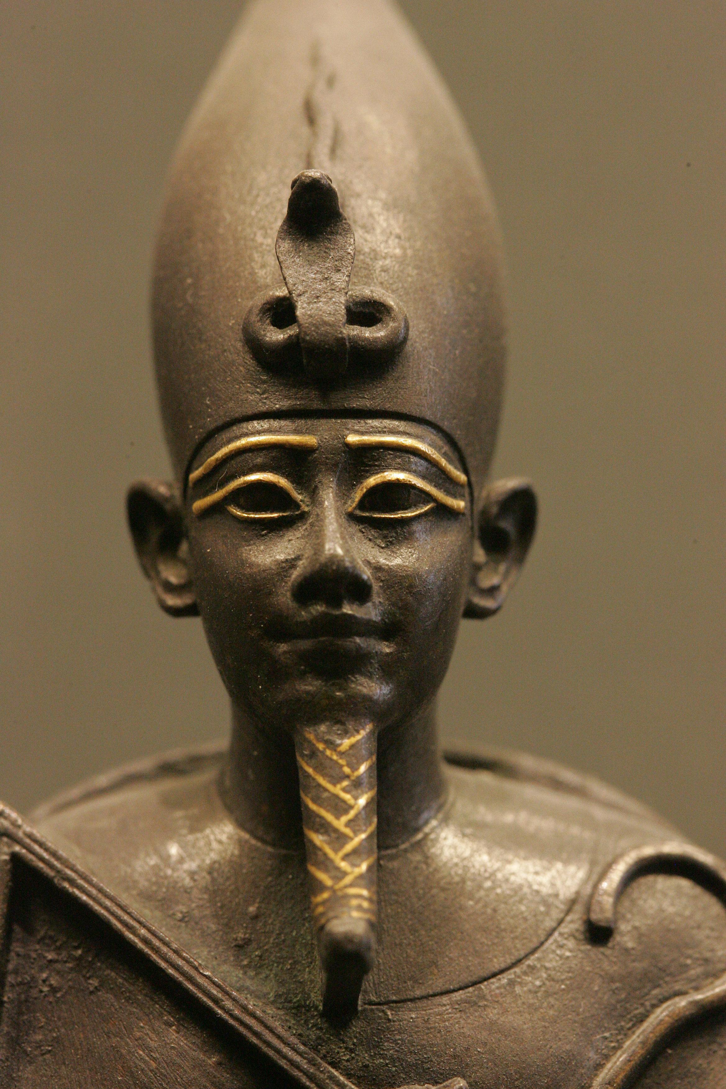 Osiris Metal Statue