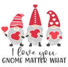square 71 i love you gnome