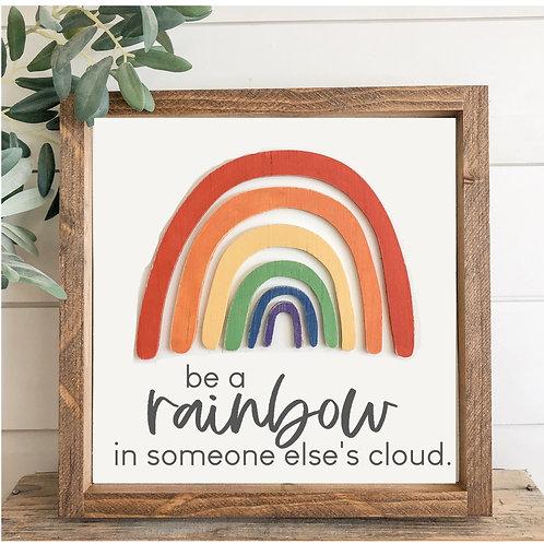 TAKE & MAKE {3d rainbow-cloud}