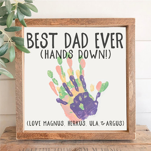 TAKE & MAKE Kit {best dad ever- hand prints} FRAMED