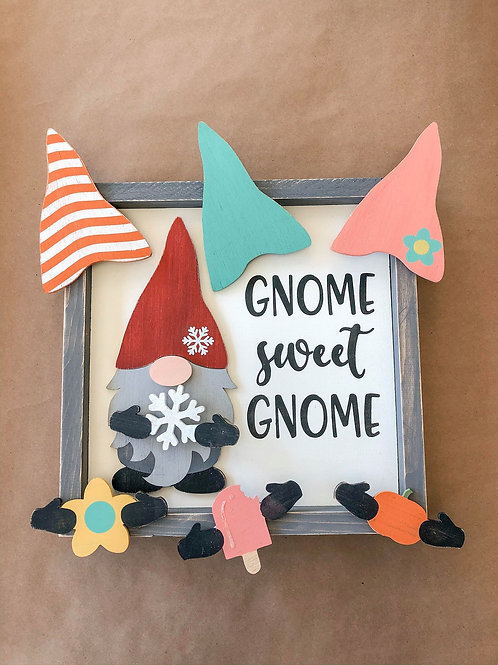 TAKE & MAKE {3d seasonal gnome}