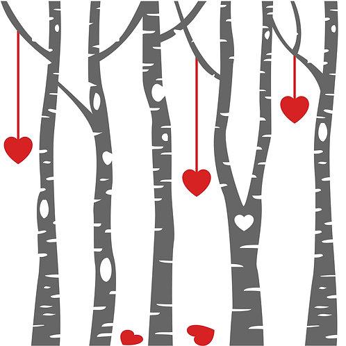 TAKE & MAKE Kit {birch hearts}