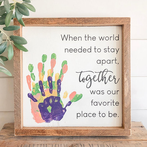 TAKE & MAKE Kit {hand prints} FRAMED