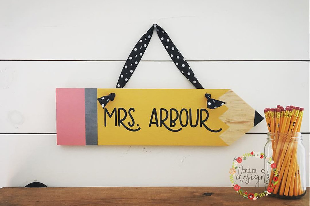 Personalized Pencil Sign Mimedesigns