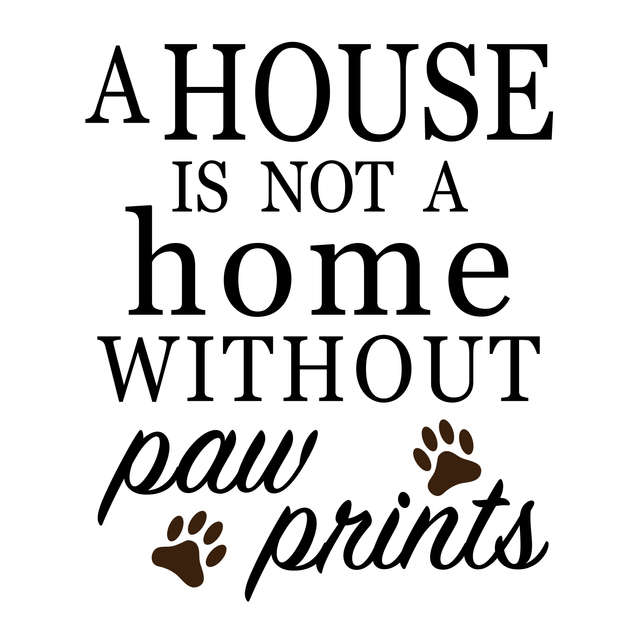 Pallet52_House is not a home without paw