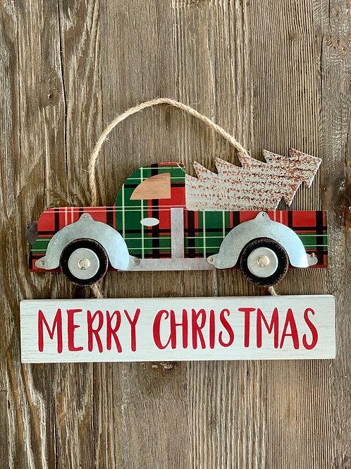 Christmas Plaid Truck