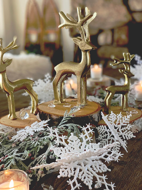 Snowy Christmas Table Decor Kit