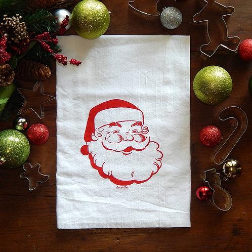 Santa Cotton Flour Sack Towel