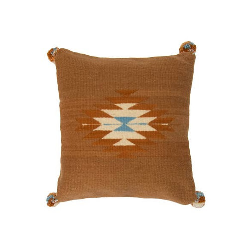 "Aztec Wool Pillow Cover 16"" x 16"""