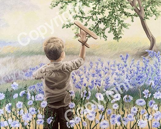 Flight of Innocence VALUE Canvas Reproduction