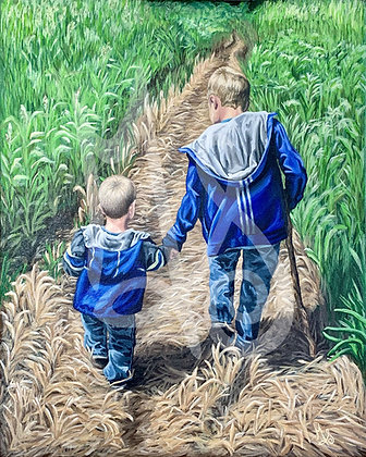 Take My Hand Stretched Canvas Giclee Print