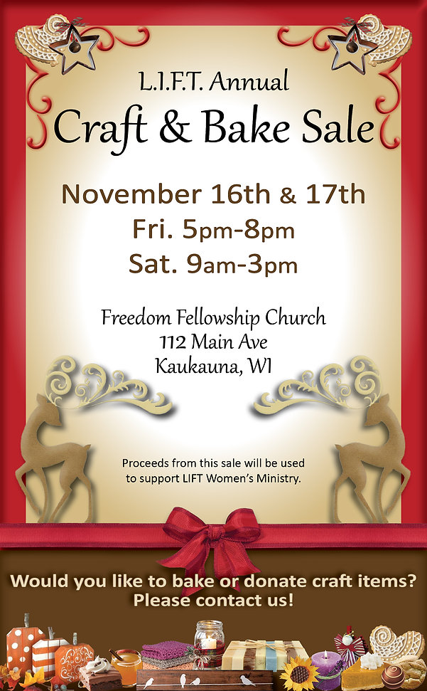 Craft and bake sale poster 2018 for webs