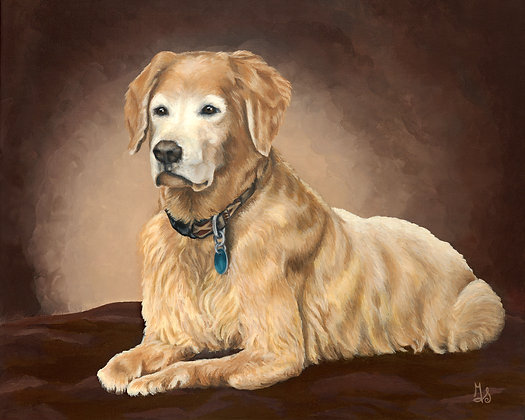 Who's a Good Boy? Stretched Canvas Giclee Print