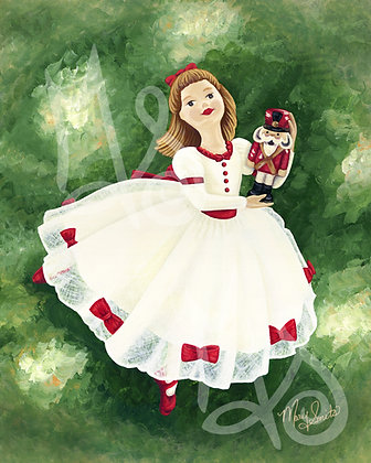 Christmas Dancer 2 Vertical Stretched Canvas Giclee Print