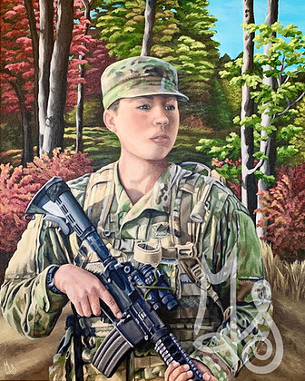 The Soldier Stretched Canvas Giclee Print