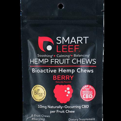Smartleef Hemp Fruit Chews -Berry - 10mg 6ct