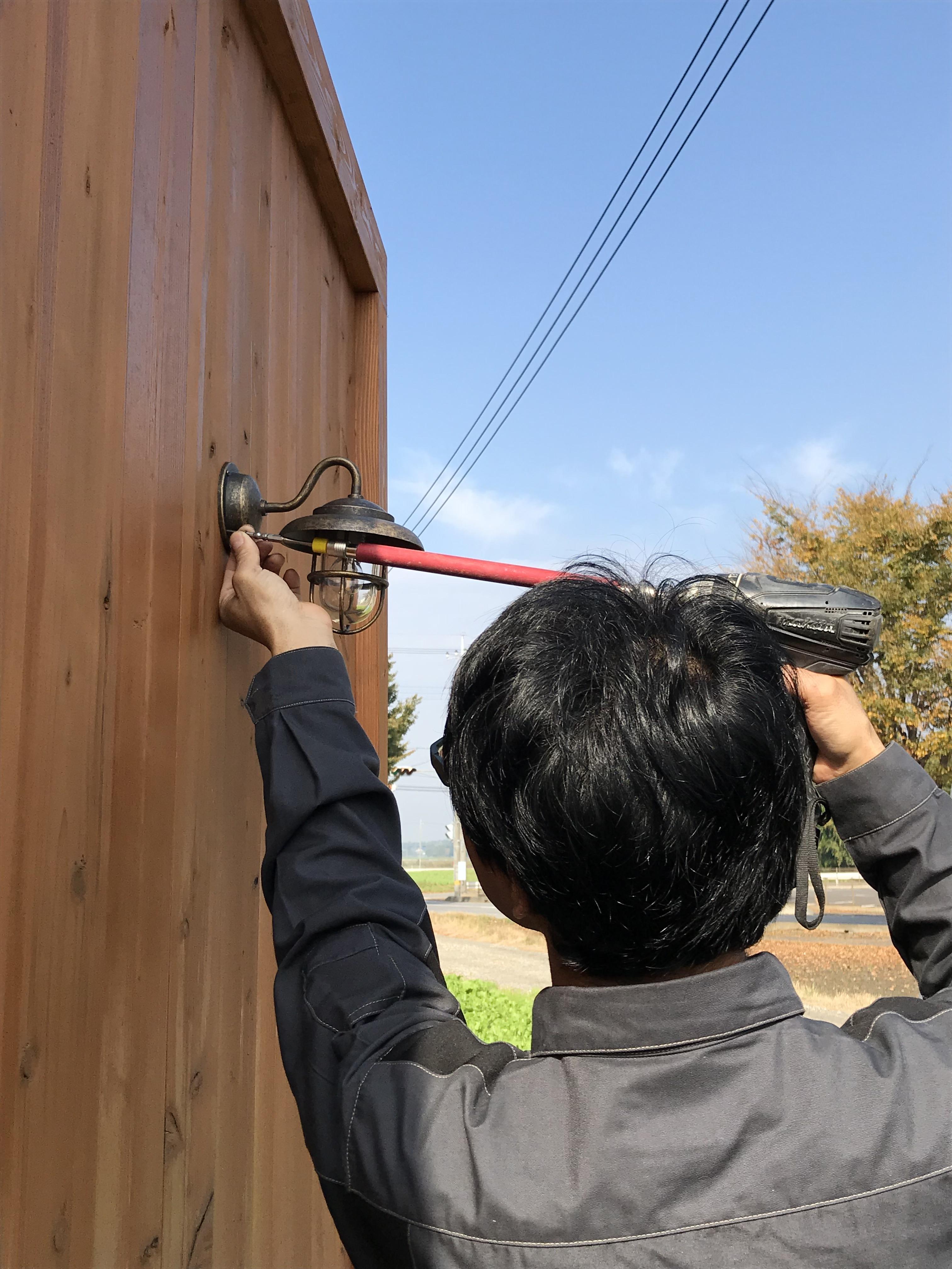 塀電気工事