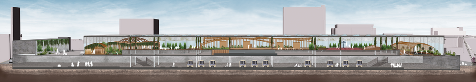 The Euston Biophilic Sports Field, 2020.