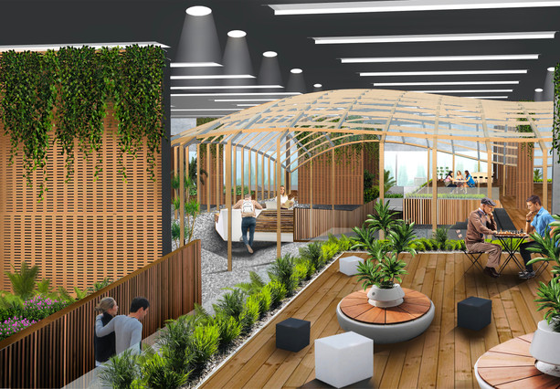 Biophilic Reception Space