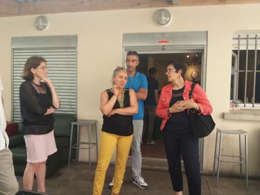 Sylvie Charrière, députée (LREM) de Gagny-Villemomble-Rosny en visite à la Boutique Solidarité