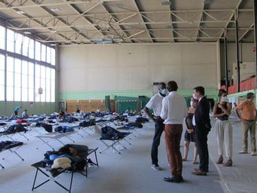 Mise à l'abri de 68 migrants à Orsay (91)
