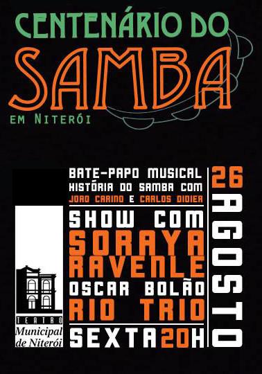 show Centenário do Samba em Niterói