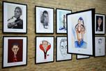 quadros da exposição Quem te viu, quem te vê